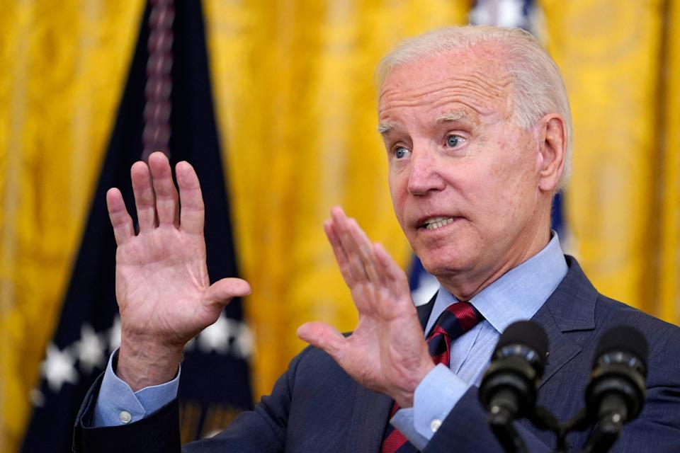 President Joe Biden speaks about the coronavirus pandemic in the East Room of the White House in Washington, Tuesday, Aug. 3, 2021.  (AP Photo/Susan Walsh) ORG XMIT: DCSW107