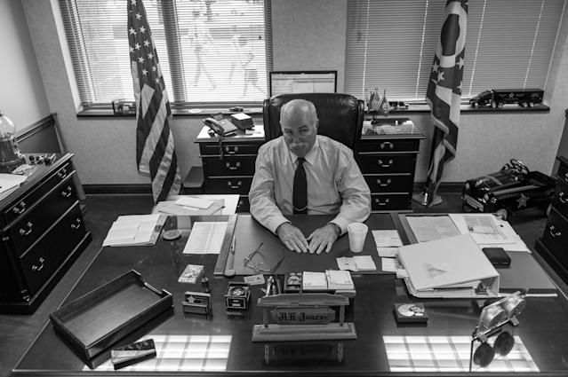 <p>Butler County Sherriff Richard K. Jones won't allow his deputies to administer Narcan to people who have overdosed on drugs.<br> (Photograph by Mary F. Calvert for Yahoo News) </p>