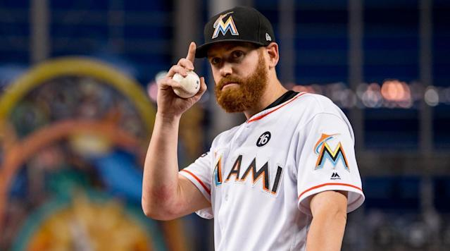 """<p>Marlins pitcher Dan Straily isn't going to miss his teammates who asked to be traded during Miami's winter fire sale. </p><p>Giancarlo Stanton and Christian Yelich were shipped out of town after making it clear that they didn't want to be part of the Marlins' drastic rebuilding efforts. Straily, though, is looking forward to being one of the leaders on an inexperienced club. </p><p>""""I'm glad they're gone,"""" <a href=""""http://www.espn.com/mlb/story/_/id/22467754/marlins-pitcher-dan-straily-says-glad-giancarlo-stanton-christian-yelich-gone"""" rel=""""nofollow noopener"""" target=""""_blank"""" data-ylk=""""slk:Straily told reporters on Friday"""" class=""""link rapid-noclick-resp"""">Straily told reporters on Friday</a>. """"If they don't want to be here, good for them.""""</p><p>Not only is Straily happy to stick it out through the roster overhaul, he's completely on board with the slash and burn strategy. </p><p>""""I really agreed with what happened,"""" he said. """"I feel like with the pieces they brought in, this might flip around a little quicker than people realize. I'm not saying today, but I'm excited to be here and try to mentor guys coming into the big leagues for the first time.""""</p><p>Straily, 29, started 33 games for the Marlins last season and posted a 4.26 ERA. He and Jose Urena are the only two locks to make the starting rotation and will compete for the right to be the Opening Day starter. </p><p>A few of Straily's current teammates have also asked to be traded but haven't had their requests granted. Starlin Castro, acquired from the Yankees in the Stanton trade, wants out, as does catcher J.T. Realmuto.</p>"""