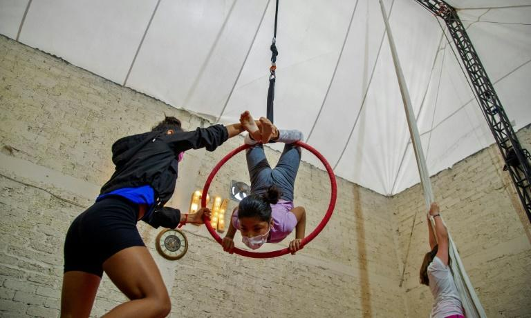 Lumina Cirkum began as a place for aspiring acrobats to keep practicing during the pandemic but has become a circus school for children