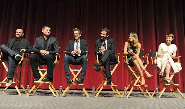 """Executive Producers and the cast of """"The Following"""" attend an Academy Screening and Q&A at the Leonard H. Goldenson Theatre on Monday, April 29."""