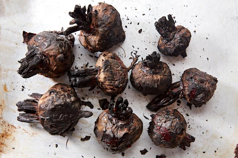 They're funny-ugly for sure, but boy do these beets taste good once that charred skin comes off.