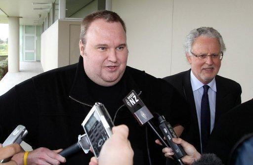 "Megaupload founder Kim Dotcom has taken to Twitter as a self-styled ""freedom fighter"""