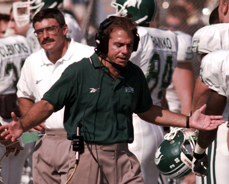 """Nick Saban helped mentor Mel Tucker during Tucker's days as a graduate assistant at Michigan State in 1997-98. """"He's very innovative, yet regimented at the same time,"""" Tucker said."""