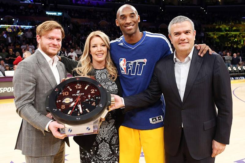 Jeanie Buss and Kobe Bryant