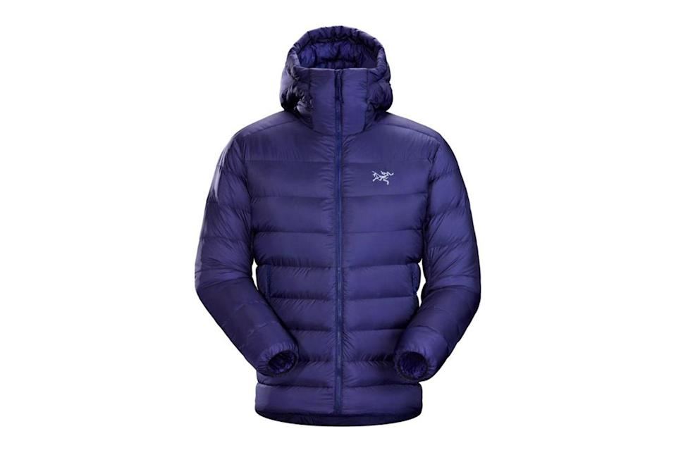 """When the weather is at its absolute foulest, this is the puffer you'll want on your side: slick, warm, and engineered to last a lifetime.<br> <br> <em>Arc'teryx Cerium SV down hoodie</em> $575, REI. <a href=""""https://www.rei.com/product/175218/arcteryx-cerium-sv-down-hoodie-mens?color=SOULSONIC"""" rel=""""nofollow noopener"""" target=""""_blank"""" data-ylk=""""slk:Get it now!"""" class=""""link rapid-noclick-resp"""">Get it now!</a>"""