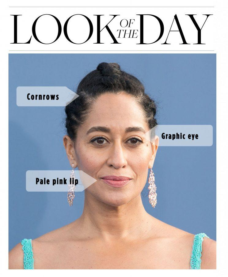 Tracee Ellis Ross's beauty look stuck out at the Critics' Choice Awards. (Photo: Getty)