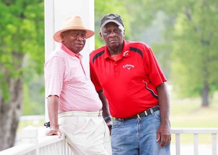 Jariah Beard, left, and Buck Moore, at the Augusta Municipal Golf Course.