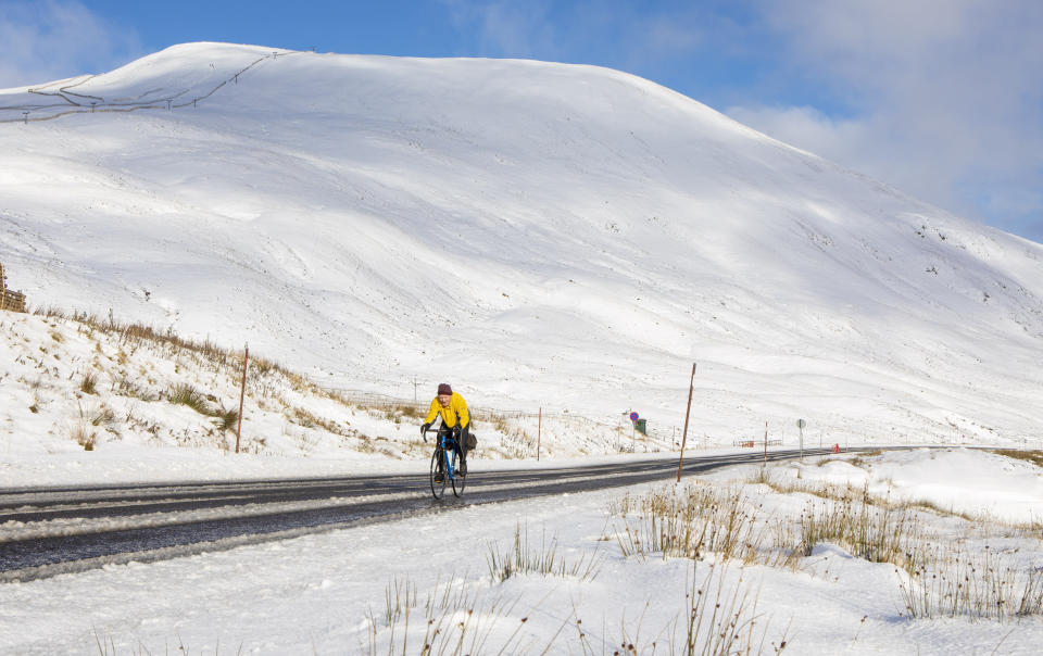 <p>The North East and Scotland were treated to brief snowy blasts </p>