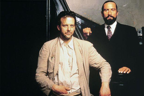 Mickey Rourke and Robert De Niro in Angel Heart