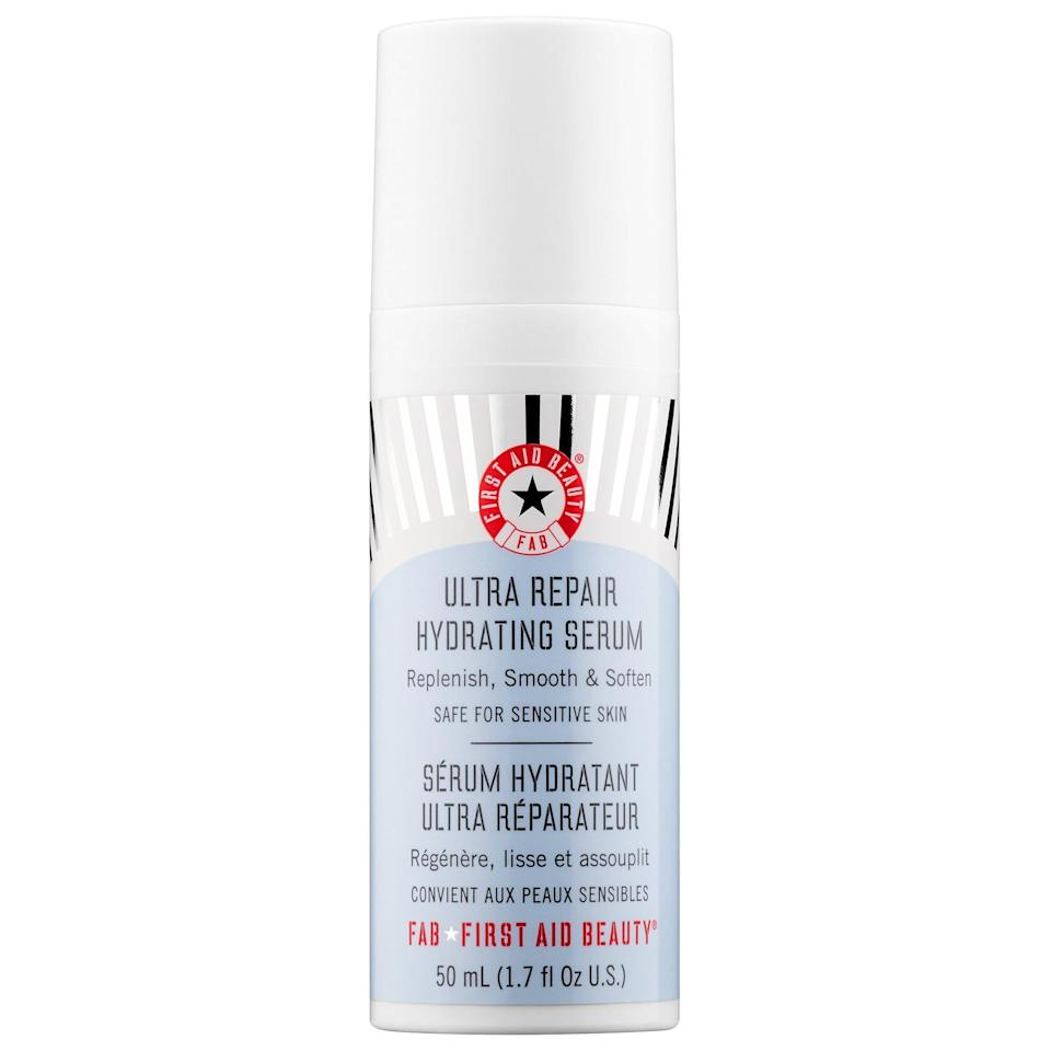 <p>Keep your skin supple and healthy with this <span>First Aid Beauty Ultra Repair Hydrating Serum</span> ($38).</p>