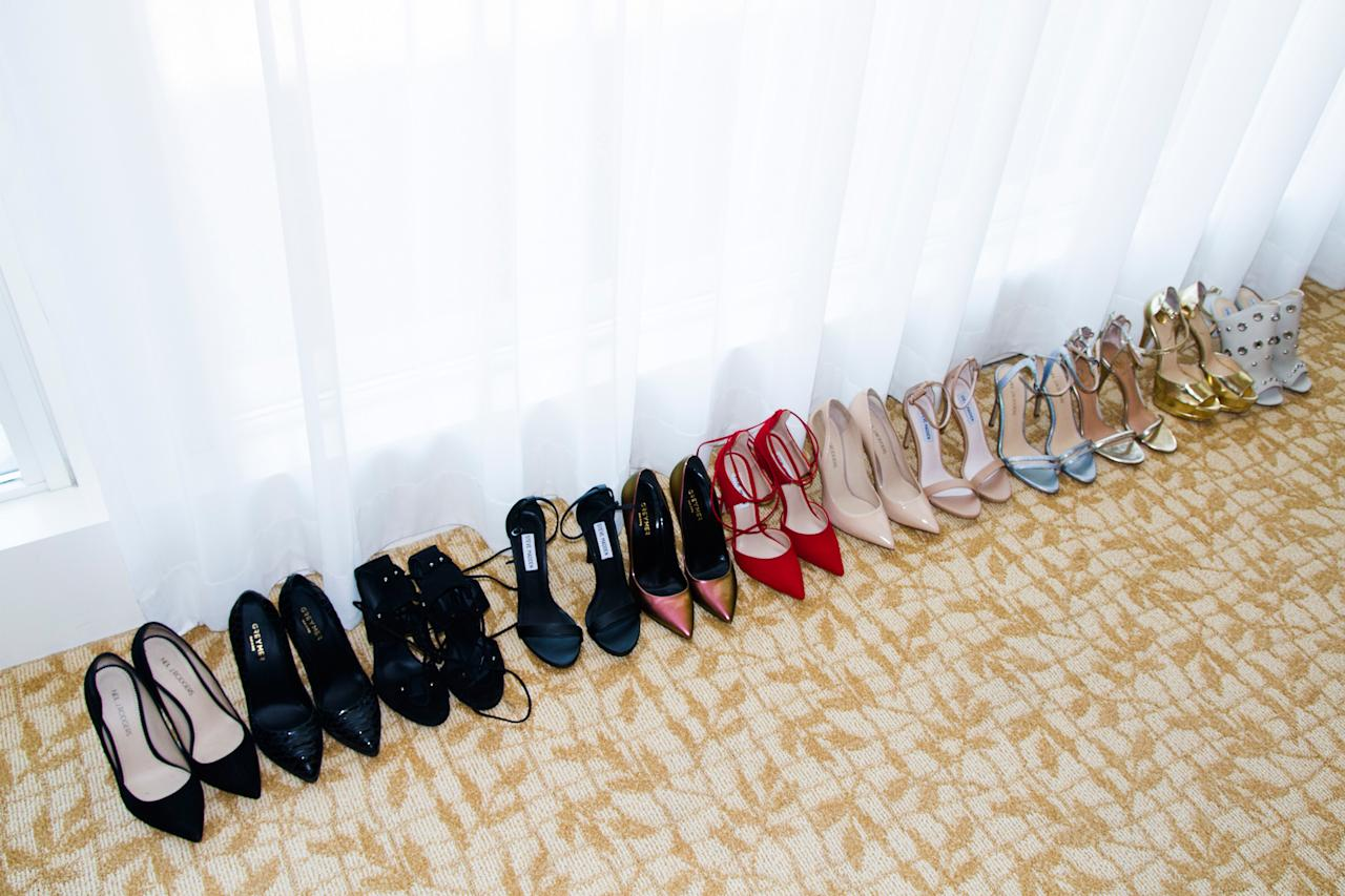 """<p>""""The hardest part: picking out the shoes to complete the outfit!""""</p>"""
