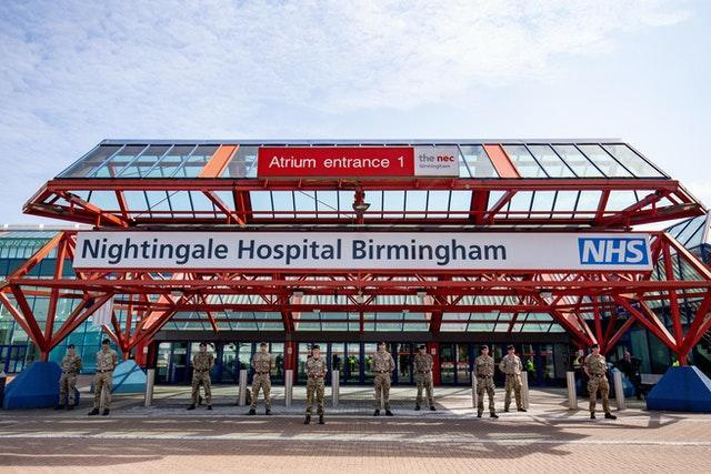 Birmingham's NEC complex, which houses a Nightingale Hospital