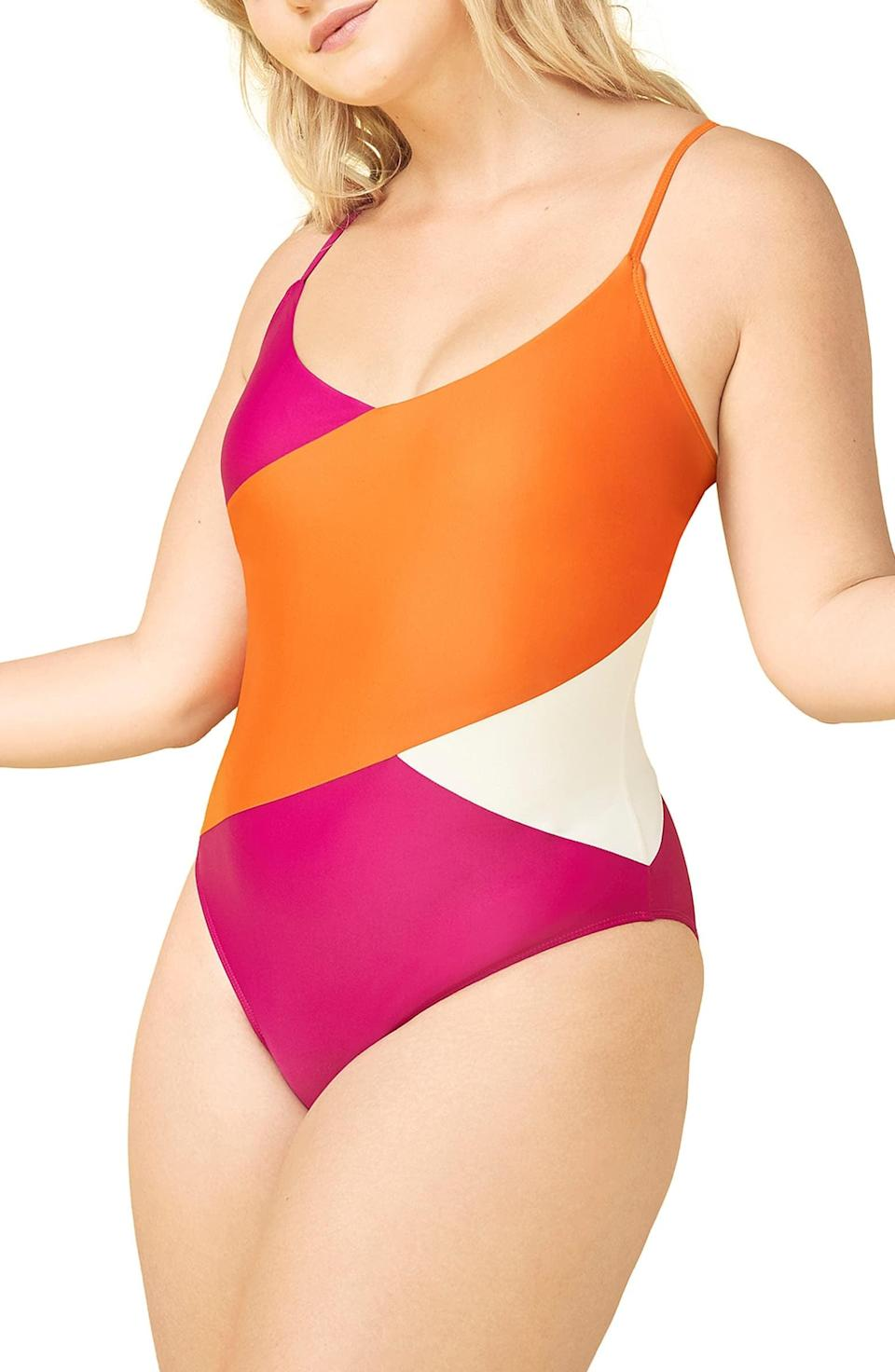 <p>This colorblock <span>Summersalt The Marina One-Piece Swimsuit</span> ($95) will make you smile.</p>
