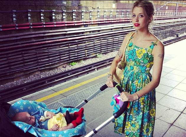 Celebrity photos: Peaches Geldof tweeted this gorgeous photo of herself with her baby Astala in the pram this week. She also told followers she was wearing a vintage dress – that once belonged to her mum, the late Paula Yates.