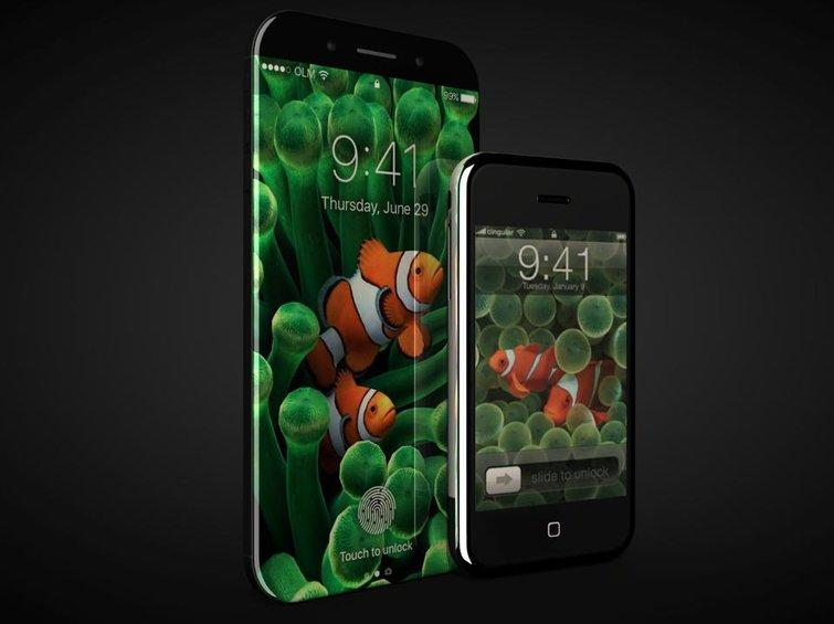 An IPhone 8 Concept Design Next To Original Credit Oscar Luna Martinez