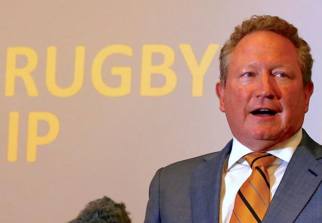 Andrew Forrest, chairman of Fortescue Metals Group, speaks during a media conference as he gives details of the new Indo Pacific Rugby Championship in Sydney