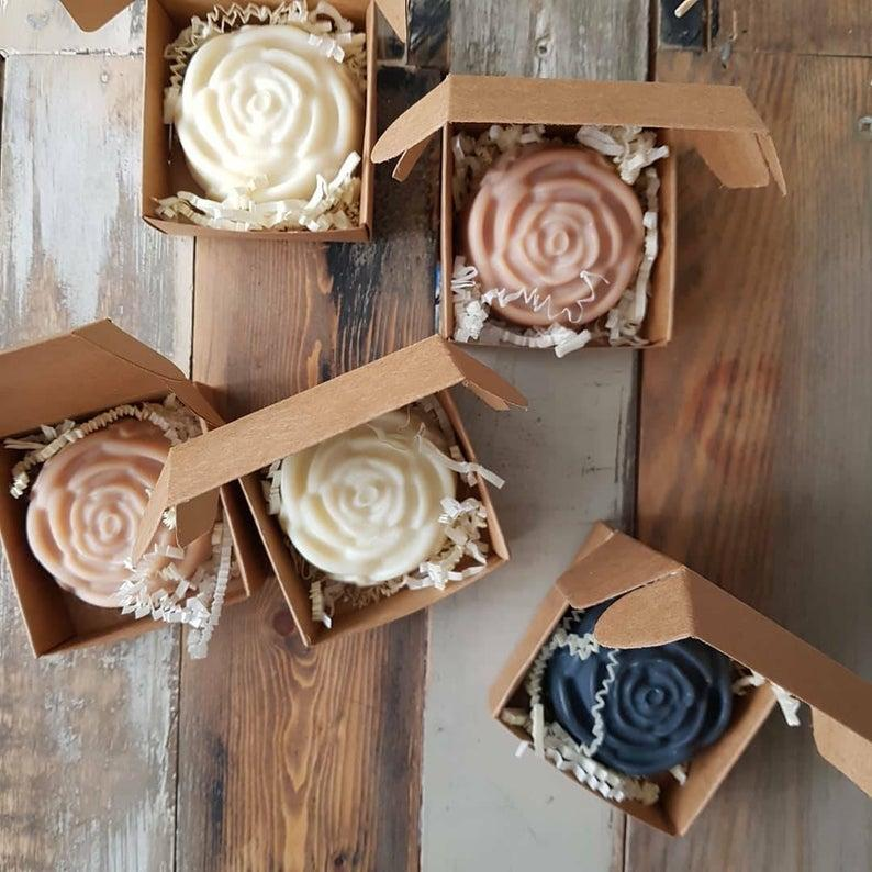 Handcrafted Rose Soap. Image via Etsy.