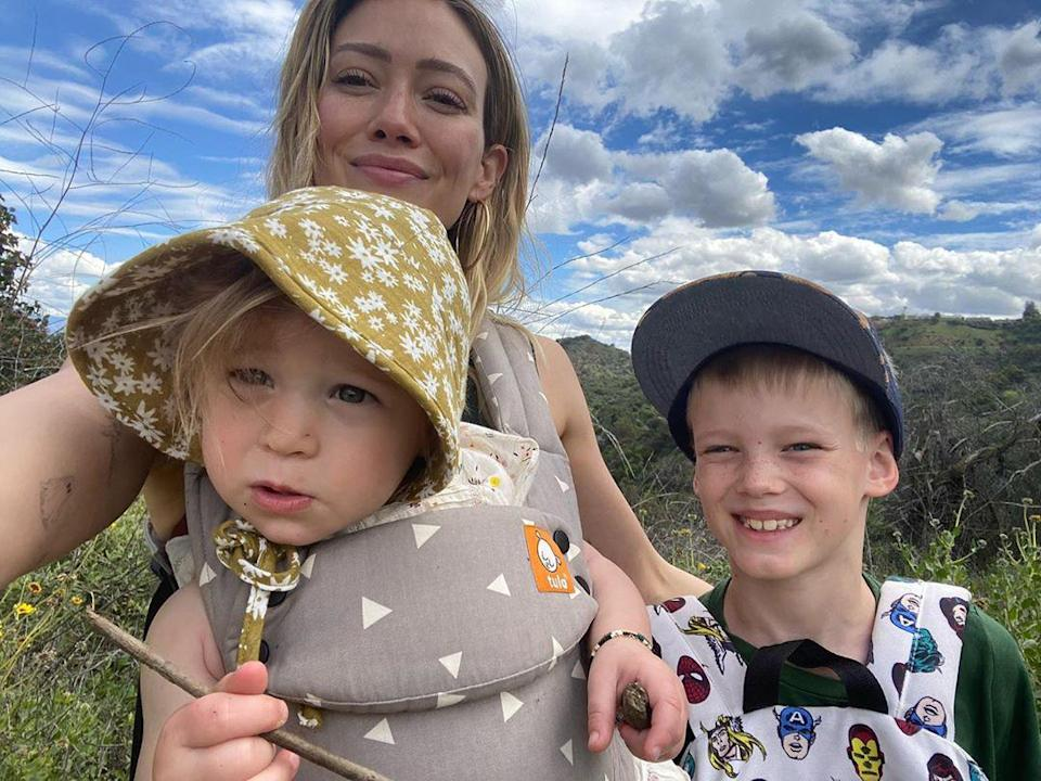 """<p>On Mother's Day 2020, Duff <a href=""""https://www.instagram.com/p/CAB0drpjLX9/"""" rel=""""nofollow noopener"""" target=""""_blank"""" data-ylk=""""slk:wrote alongside a video of her kiddos in the pool"""" class=""""link rapid-noclick-resp"""">wrote alongside a video of her kiddos in the pool</a>, """"These kids make me utterly exhausted and I wouldn't want it any other way. I am amazed by all that they continue to teach me. I am so grateful I get to guide them through this part of their life and witness all of their moments, big and small. I can't wait to see what they become ♥️""""</p>"""