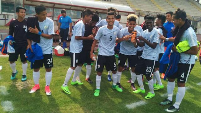 Indian U-17 World Cup Squad's clash against Italy U-17 National Team.