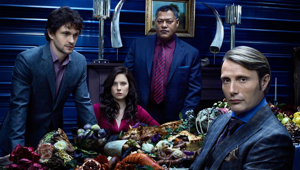 The season 3 finale ended with a literal cliffhanger with Will throwing himself and Hannibal off a cliff after they kill Dolarhyde AKA the Red Dragon. Though there is a post-credit scene that suggests Hannibal, or both, survived, we'll never know as NBC cancelled the series in 2015 because of low ratings.