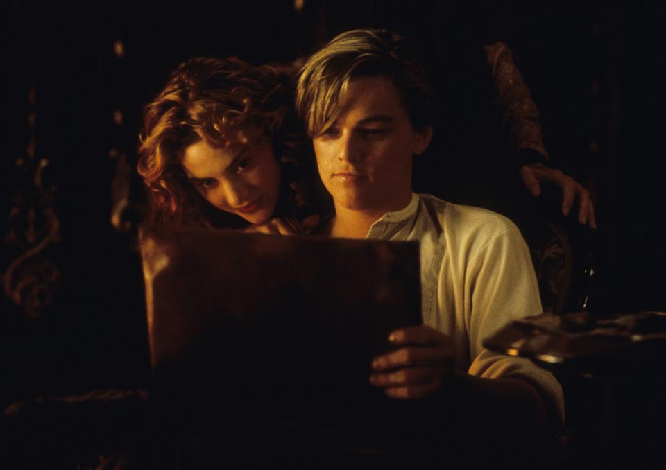 """<strong><em><h3>Titanic </h3></em></strong><h3>(1997)<br></h3><br>In actuality, the iconic love story between Jack (Leonardo DiCaprio) and Rose (Kate Winslet) is chaste, compared to some of the other selections on this list. But the palpable sexual tension, combined with one steamy handprint on a car, makes <em>Titanic </em>one of the sexiest (and saddest) movies ever.<span class=""""copyright"""">20th Century Fox/Paramount/Kobal/REX/Shutterstock</span>"""