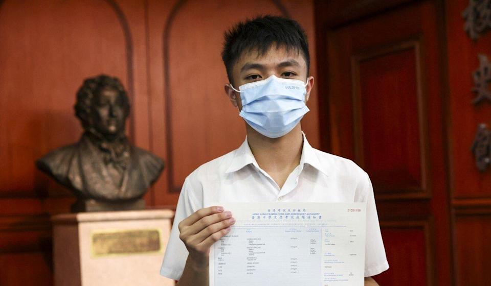 Ying Wa College's Sunny Ching wants to focus on medical research. Photo: May Tse