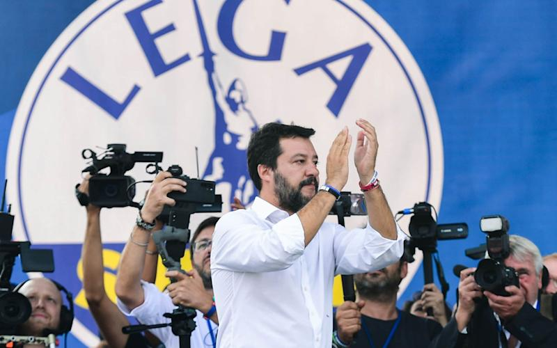 Matteo Salvini has positioned himself as the government's main opposition  - AFP
