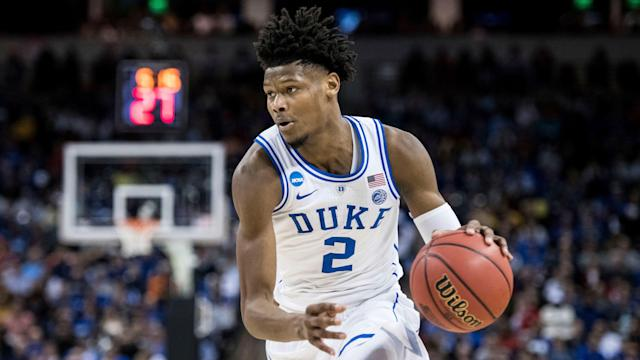 It's unclear when Cam Reddish suffered the knee injury that kept him out of Duke's starting lineup for Friday night's Sweet 16 game against Virginia Tech. (AP)