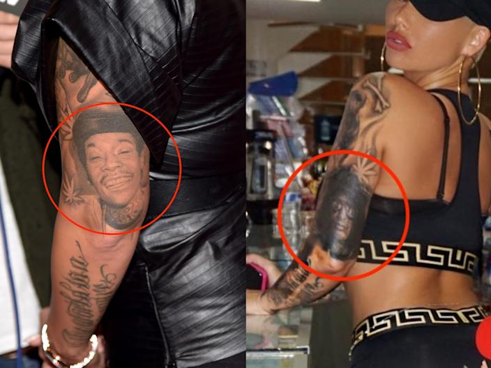 amber rose tattoos skitch