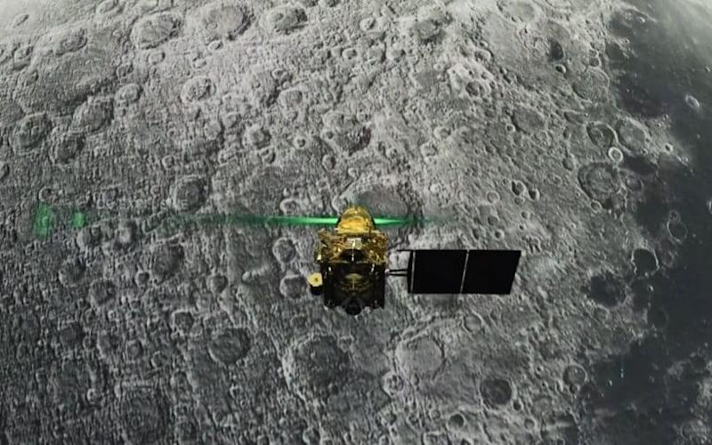 The lander was launched as part of a mission in July - AFP