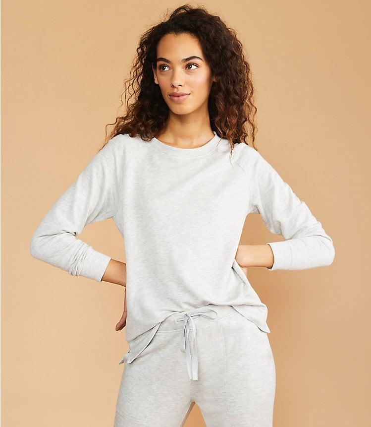 <p>Wear this bestselling <span>Lou & Grey Signature Softblend Sweatshirt</span> ($70) with the <span>matching sweatpants</span>. </p>
