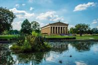 "<p>You could go to Greece on your next trip, or you could just visit the full-scale replica of The Parthenon in <a href=""https://www.nashville.gov/Parks-and-Recreation/Parthenon.aspx"" rel=""nofollow noopener"" target=""_blank"" data-ylk=""slk:Nashville's Centennial Park"" class=""link rapid-noclick-resp"">Nashville's Centennial Park</a>. Inside the building there is an art museum featuring a 42-foot statue of Athena, another replica of the Grecian original. Built in 1897 for the state's Centennial Exposition.</p>"