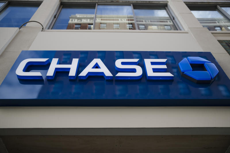 This Thursday, Nov. 29, 2018, photo shows a Chase bank location in Philadelphia. (AP Photo/Matt Rourke)