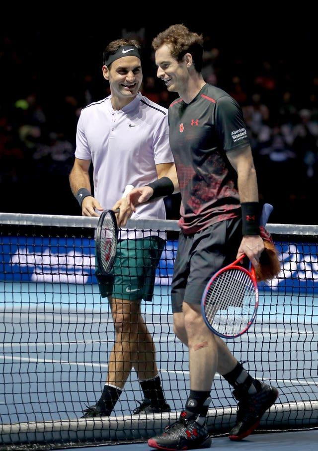 Andy Murray, right, backed his old rival Roger Federer