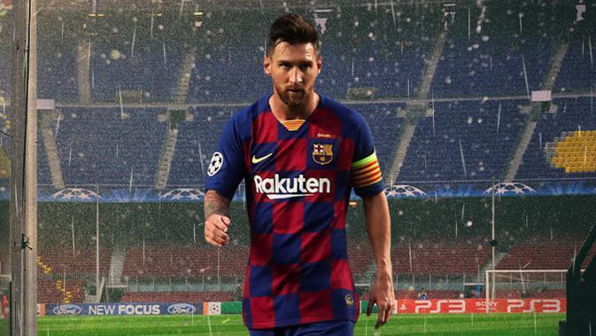 Barcelona - Lionel Messi Walk Out From Camp Nou (Bola.com/Adreanus Titus)