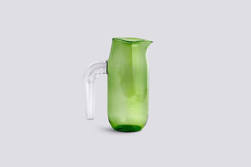 """<br><br><strong>Hay</strong> Hay Glass Jug, $, available at <a href=""""https://go.skimresources.com/?id=30283X879131&url=https%3A%2F%2Fus.hay.com%2Faccessories%2Fby-type%2Fdinnerware%2Fhay-jug%2F2515010.html"""" rel=""""nofollow noopener"""" target=""""_blank"""" data-ylk=""""slk:Hay"""" class=""""link rapid-noclick-resp"""">Hay</a>"""