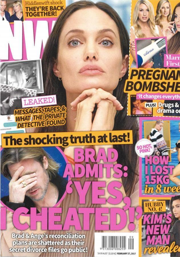 NW magazine claims Brad played away. Source: Bauer Media