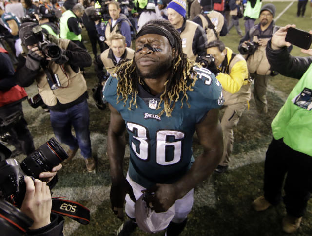 Jay Ajayi went from a team that would finish 6-10 on the season to one that is one victory away from winning it all. (AP)