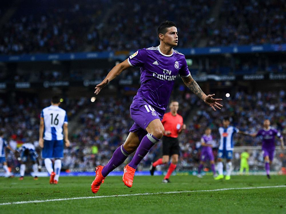 James Rodriguez has struggled to cement a first-team spot for himself at Real Madrid: Getty