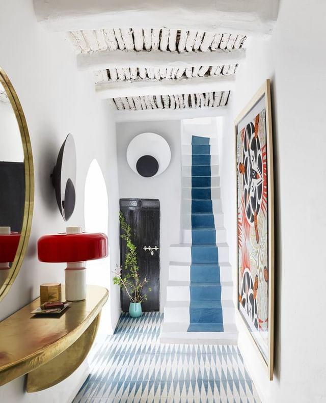 "<p>Patterned tile floors, painted stairs, and convivial touches unite joyously in the Marrakech medina owned by two Los Angeles creatives. </p><p><a class=""link rapid-noclick-resp"" href=""https://www.elledecor.com/design-decorate/house-interiors/a25643406/the-vivacious-18th-century-marakesh-medina-of-two-la-transplants/"" rel=""nofollow noopener"" target=""_blank"" data-ylk=""slk:TOUR THE HOME"">TOUR THE HOME</a></p><p><a href=""https://www.instagram.com/p/B-Sjsnaplg6/"" rel=""nofollow noopener"" target=""_blank"" data-ylk=""slk:See the original post on Instagram"" class=""link rapid-noclick-resp"">See the original post on Instagram</a></p>"