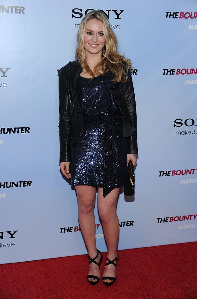 "Lindsay Vonn at the New York City premiere of <a href=""http://movies.yahoo.com/movie/1810129411/info"">The Bounty Hunter</a> - 03/16/2010"