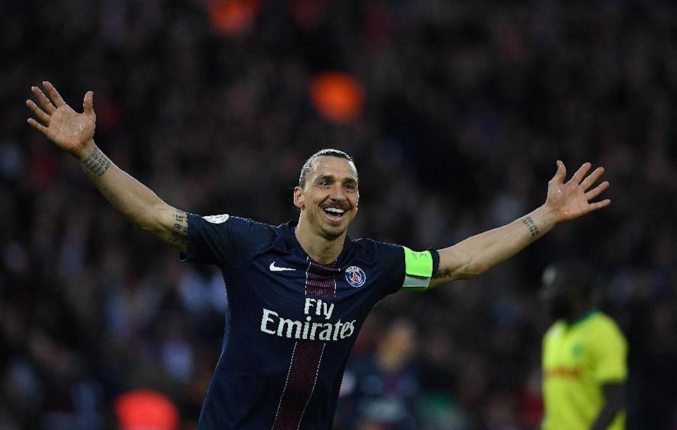 Zlatan Ibrahimovic is a free agent having left having left Paris Saint-Germain after a four-year stint at the French side (AFP Photo/Franck Fife)