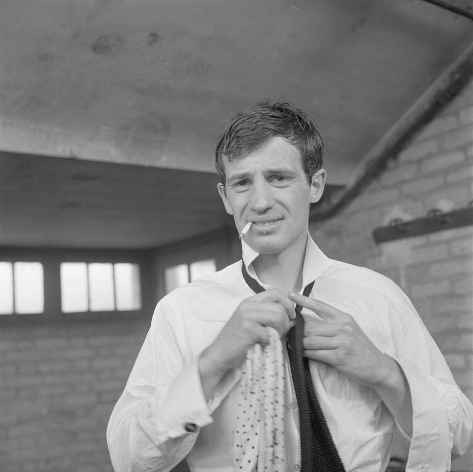 <p>Choosing ties in 1960, the year that 'Breathless' became an international hit</p>