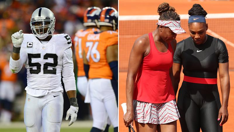 This Week in U.S. Sports: Khalil Mack extends holdout; Williams sisters set to face off