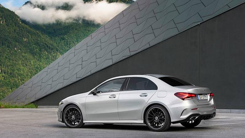 2019 mercedes a class saloon revealed. Black Bedroom Furniture Sets. Home Design Ideas