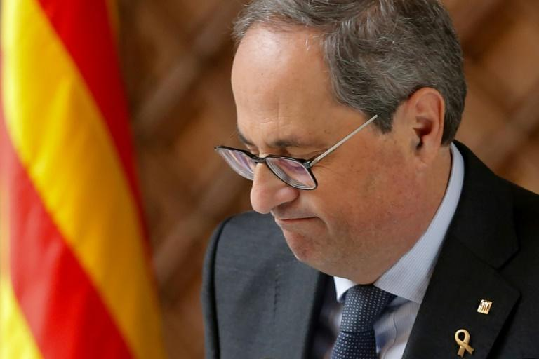 Quim Torra has been banned from Catalonia's regional parliament by Spain's electoralboard