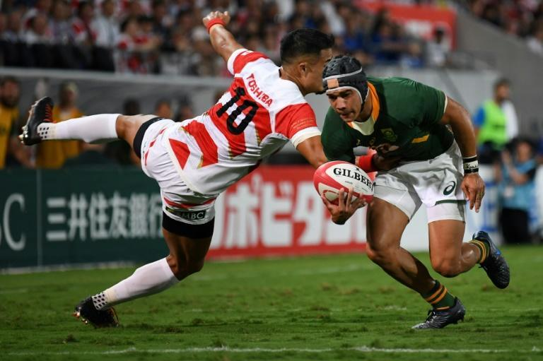 Cheslin Kolbe was a handful for the Japanese in their 41-7 win