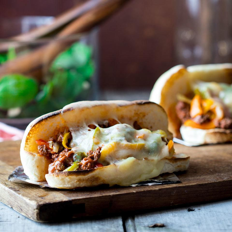 <p>Two of our favorite comfort-food sandwiches join forces in these family-friendly dinner sandwiches. We found that softer buns make this easier to eat, and it's all the better when wrapped takeout-style in a sheet of foil.</p>