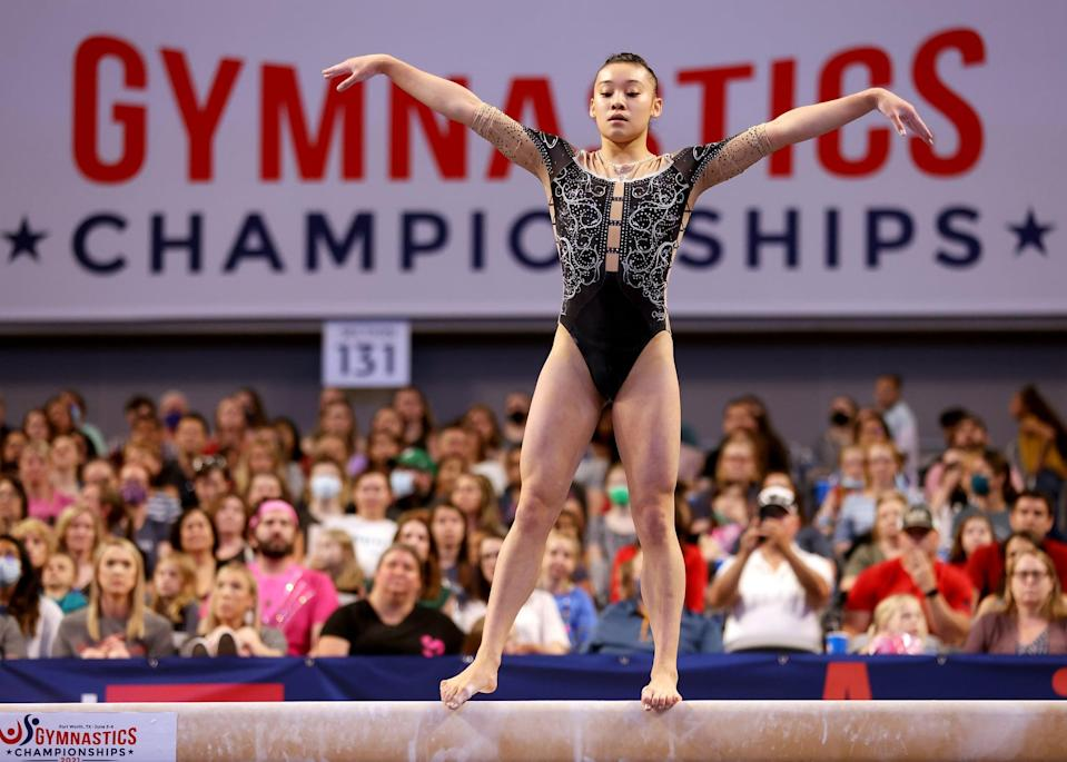<p>Wong, committed to the University of Florida, landed in third place on floor at the 2021 US Gymnastics Championships. The 17-year-old represented the US at the Pan American Games in 2019 and won a team gold medal while doing so. That same year she won a bronze medal at Nationals for her performances on beam.</p>